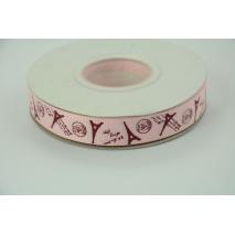 Paris pink grosgrain ribbon 16mm - 20 meters