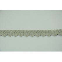 Cotton lace 15mm in a cold gray color