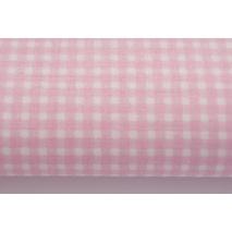 Bawełna 100% różowa mała krateczka