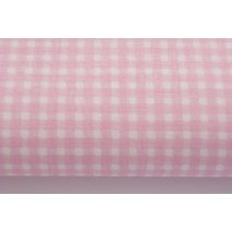 Cotton 100% pink small check