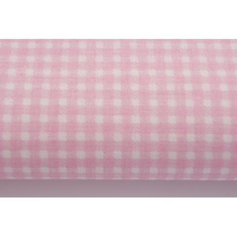 Cotton 100% pink small check