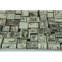 Bawełna 100% znaczki pocztowe