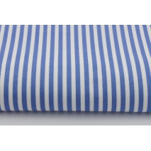 Cotton 100% dark blue stripes 5mm