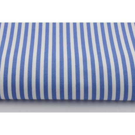 Bawełna 100% ciemnoniebieskie paski 5mm