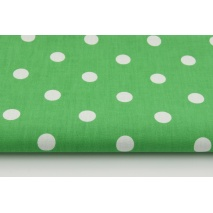 Cotton 100% polka dots 17mm on a dark green background