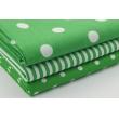 Cotton 100% polka dots 17mm on a dark green background
