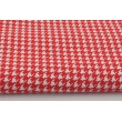 Cotton 100% red cheerful check