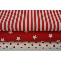 Bawełna 100% czerwone paski 5mm