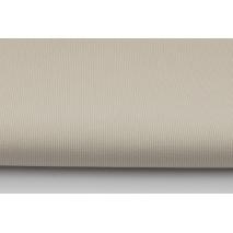 Ribbed 100% cotton, plain beige
