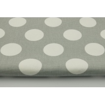 100% cotton HOME DECOR, HD large white polka dots on a gray background