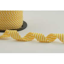 Cotton bias binding yellow stripes