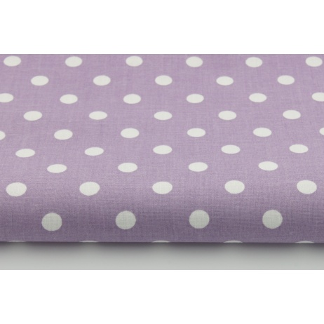 Cotton 100% dots 9mm on a blueberry background