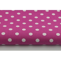 Cotton 100% dots 9mm on a fuchsia background