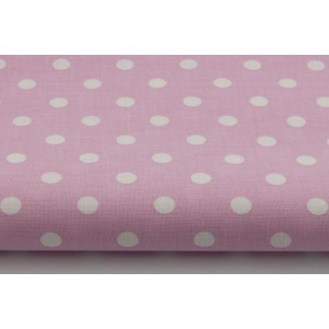 Bawełna kropki 9mm na różowym tle