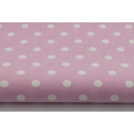 Cotton 100% dots 9mm on a pink background