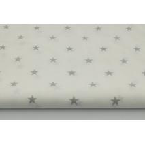 Bawełna 100% gwiazdki 1cm, R, jasnoszare na białym tle