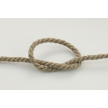 Dark beige 6 mm Cotton Cord