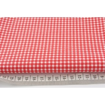 Cotton 100% red small check