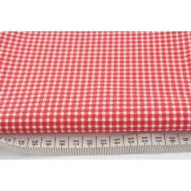 Cotton 100% red small check