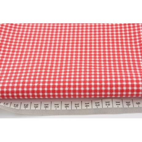 Bawełna 100% czerwona mała krateczka *1m*