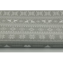 100% Cotton scandinavian pattern on a gray background