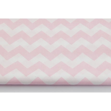 Cotton 100% pastel pink chevron zigzag