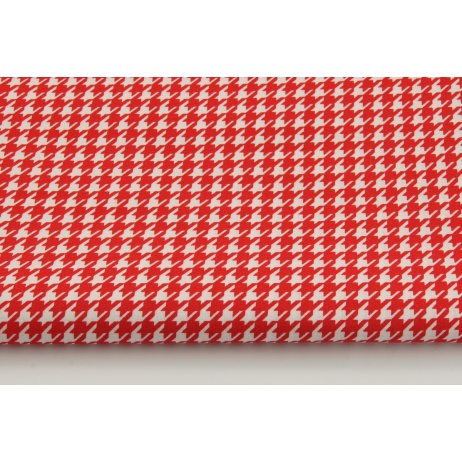 Bawełna 100% pepitka czerwona