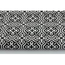 Bawełna 100% czarna mozaika marokańska