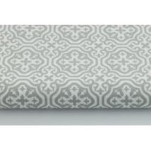 Cotton 100% light gray moroccan mosaic