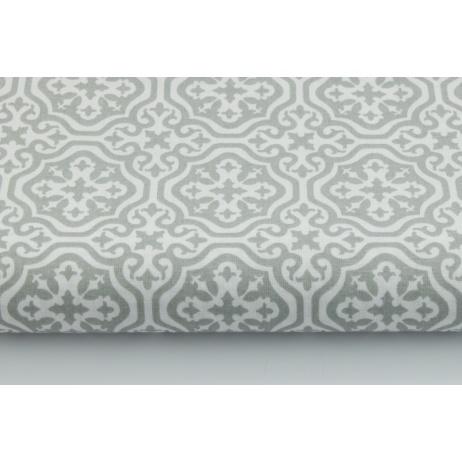 Bawełna 100% jasnoszara mozaika marokańska