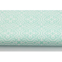 Cotton 100% mint Moroccan mosaic