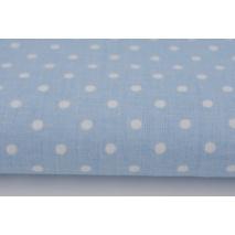 Bawełna 100% kropki 4mm na niebieskim tle *1m*