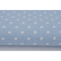 Cotton 100% 4mm dots on a blue background