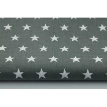 Cotton 100% stars 20mm on a dark gray background