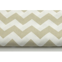Cotton 100% beige chevron zigzag