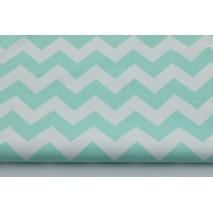HOME DECOR mint chevron zigzag cotton 100%