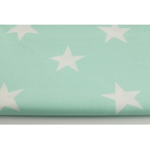 Cotton 100% big stars on a mint background