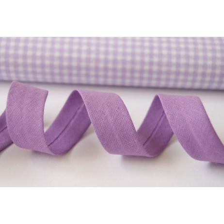 Cotton bias binding lilac, violet 18mm