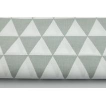 Bawełna 100% w jasnoszare trójkąty na białym tle