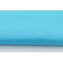 Drill, 100% cotton fabric in a plain intensive turquoise colour