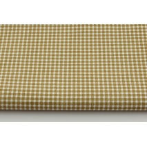 Cotton 100% small dark beige check