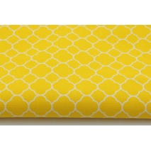 Cotton 100% small moroccan trellis on a yellow background