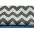 Cotton 100% dark gray chevron zigzag