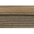 Sznurek bawełniany ciemny beż z taśmą o średnicy 6mm