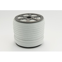 Cotton bias binding small light gray stripes