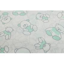 Cotton 100% bears in mint sweaters