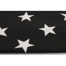 Cotton 100% big stars on a black background