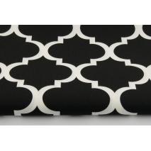 Cotton 100% moroccan trellis on a black background 2