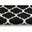 Cotton 100% moroccan trellis on a black background 2