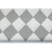 Bawełna 100% jasnoszare romby 9cm